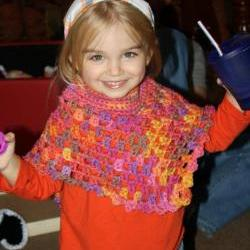 Child&#039;s crochet poncho