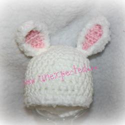 Crochet bunny hat