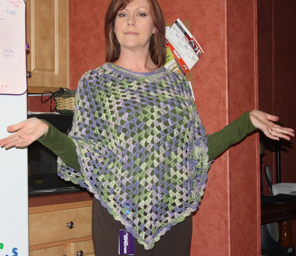 Free Crochet Poncho Patterns Adults : Crochet Poncho on Luulla